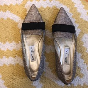 Jimmy Choo Women's Point-Toe Flats. Size 37.